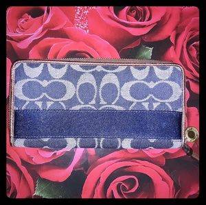 DENIM COACH WALLET
